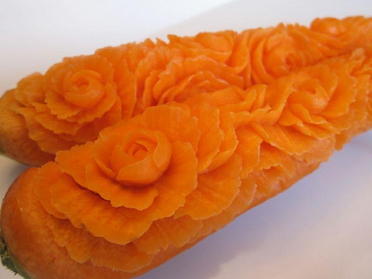 Carrot carvings u my mirepoix