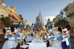 BREAKFAST WITH CHARACTER: One Year of a Million Dreams recipient will be the guest of honor at the largest Disney character breakfast ever held at the Magic Kingdom. The ÒUltimate Disney Character BreakfastÓ will take place at the most magical of places Ð on Main Street. U.S.A. at the Walt Disney World Magic Kingdom Ð with dozens of Disney characters.